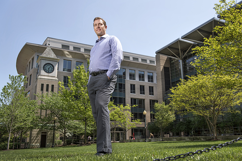Shon Hopwood  at   Georgetown University Law Center in Washington.