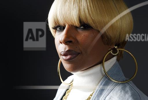 Singer Mary J. Blige poses for a portrait at Capitol Records in Los Angeles.