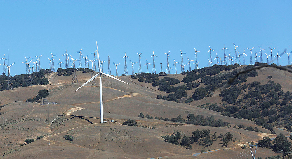 The hills bristle with turbines at a wind farm in Tehachapi, California. Wind energy remains a relatively minor part of the nation's electricity mix, contributing about 5.5 percent of overall generation in 2016, but industry officials believe it is well positioned for steady growth even without government subsidies.