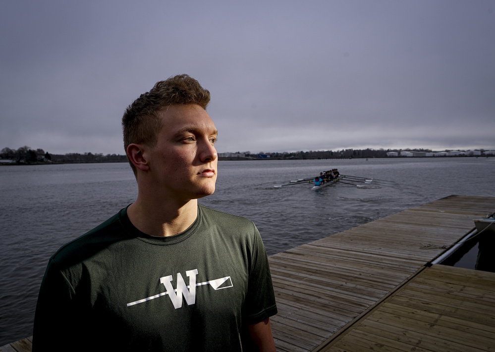 Charlie Lyall is sitting out the spring crew season because of a hand injury from basketball season, but he plans to compete for a spot in the University of Washington's powerhouse crew program as a recruited walk-on.