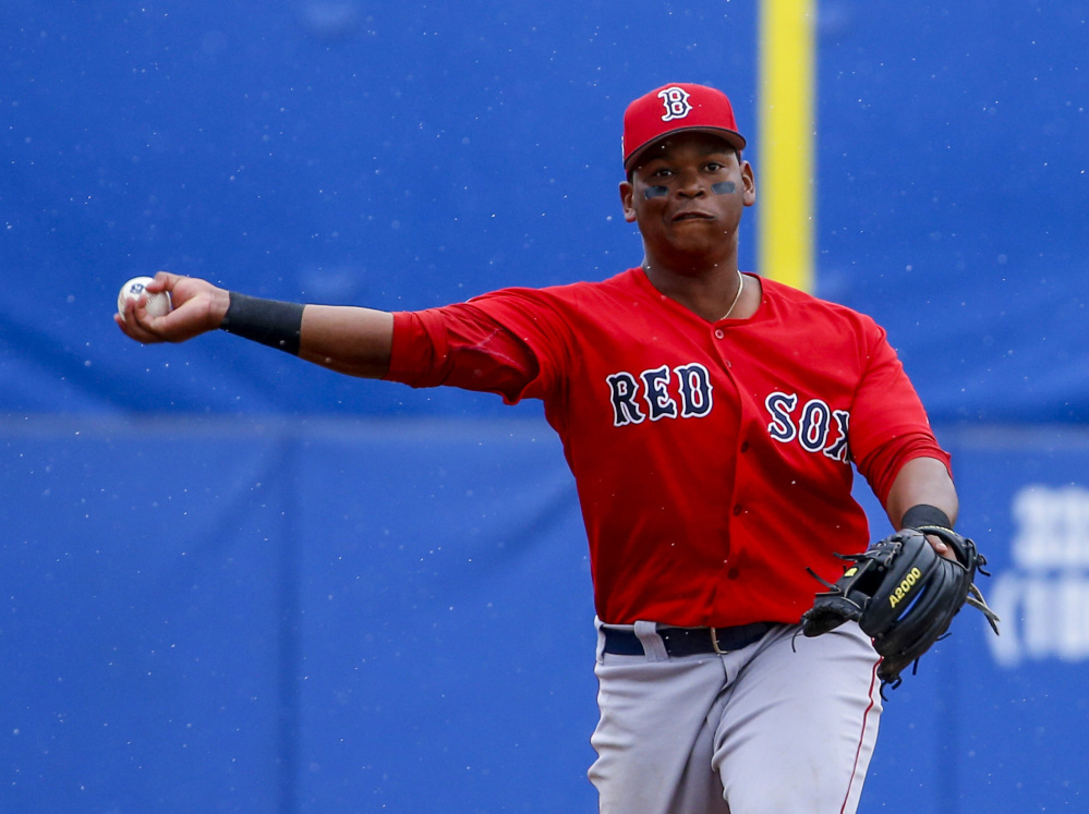 Dave Dombrowski may trade some prospects, but don't expect third baseman Rafael Devers to be one of them. His next stop is likely to be Pawtucket.