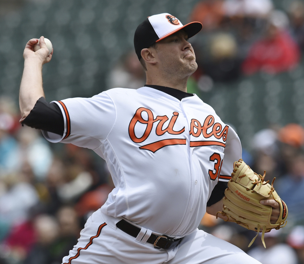 Associated Press/Gail Burton Chris Tillman made his first start of the season Sunday, helping the Orioles beat the Chicago White Sox 4-0 in Baltimore to complete a three-game sweep.