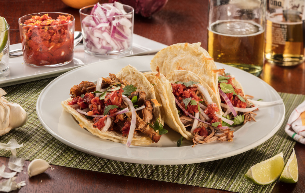 For stress-free entertaining, cook the taco meat fully up to three days in advance.