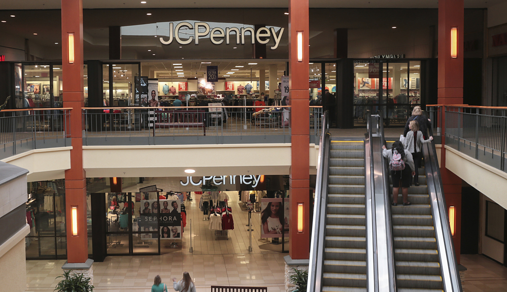 Shoppers head to a JCPenney store in the Georgia Square Mall in Athens, Ga. First-quarter earnings reports are expected to show the challenges that such retail stores are facing.