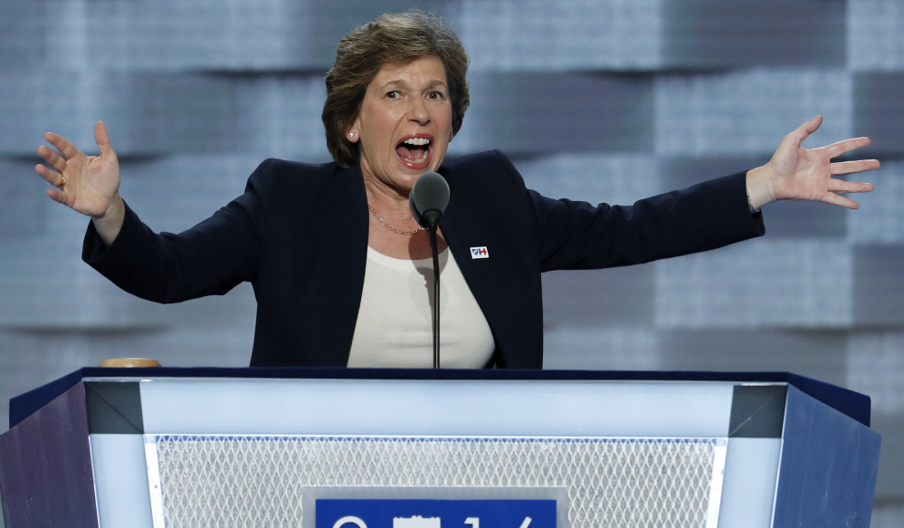 Randi Weingarten, president of the American Federation of Teachers, speaks during the first day of the Democratic National Convention in Philadelphia. The nation's two largest teachers' unions contributed $573 million to campaigns from 2007 through 2016, much of it designed to counter the spending of the wealthy families and their affiliated groups. Associated Press/J. Scott Applewhite