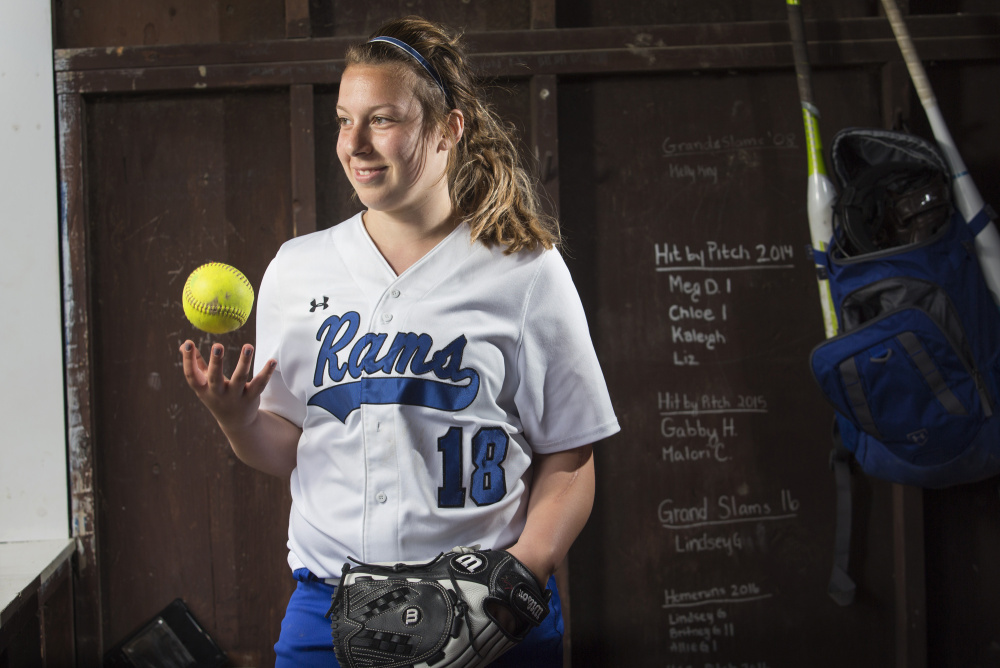 Sydney Waitt underwent surgery, chemotheraphy and radiation treatments after she was diagnosed with Ewing sarcoma two years ago, but she's back playing softball and pitching for Kennebunk High.