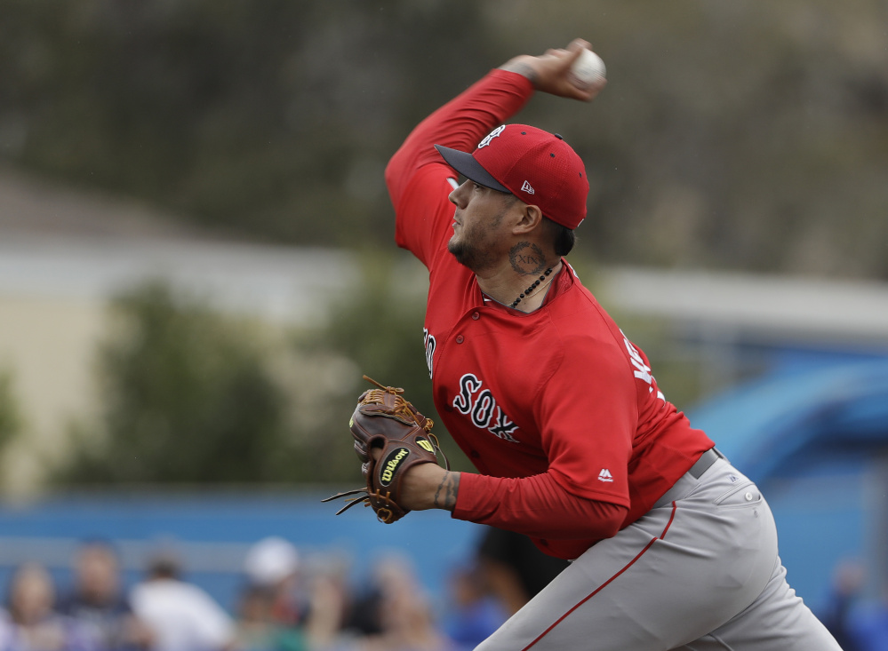 The Red Sox signed Hector Velazquez from the Mexican League in the offseason and he has been impressive enough in Pawtucket that he could be in line for a start this week.