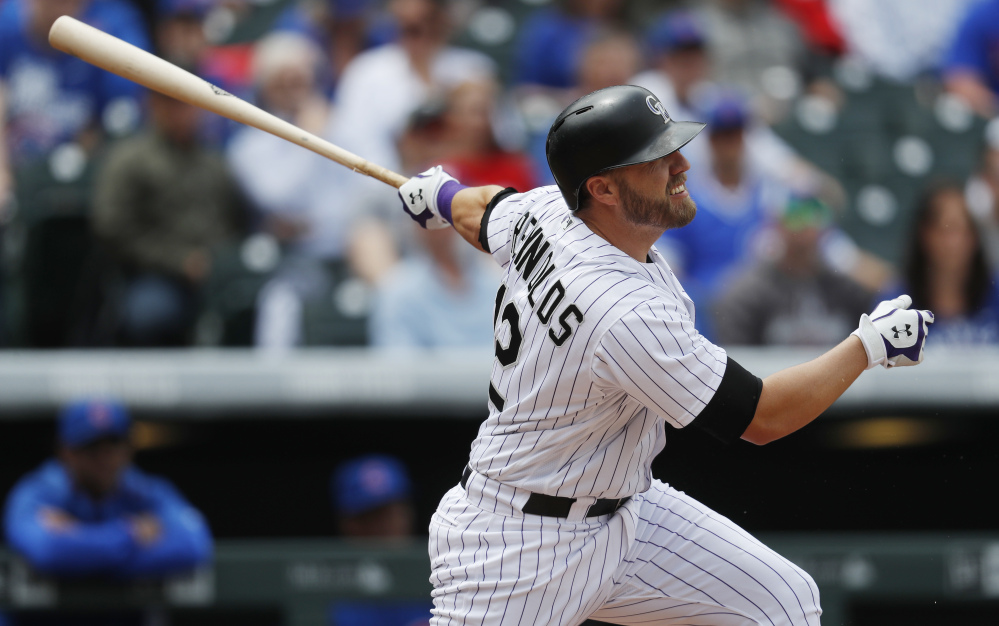 Expected to be a backup, 33-year-old Mark Reynolds has instead become a key contributor to the Rockies' lineup after filling in because of an injury.