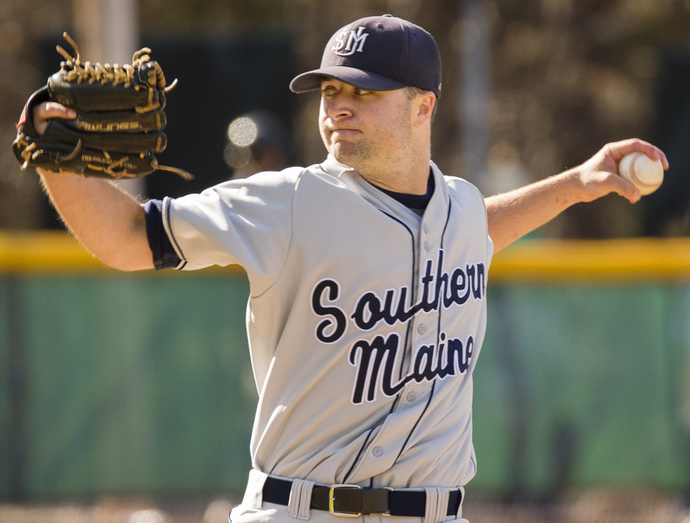 Tyler Leavitt has bolstered the University of Southern Maine pitching staff after missing a season because of Tommy John surgery. He takes a 4-0 record to the NCAAs.