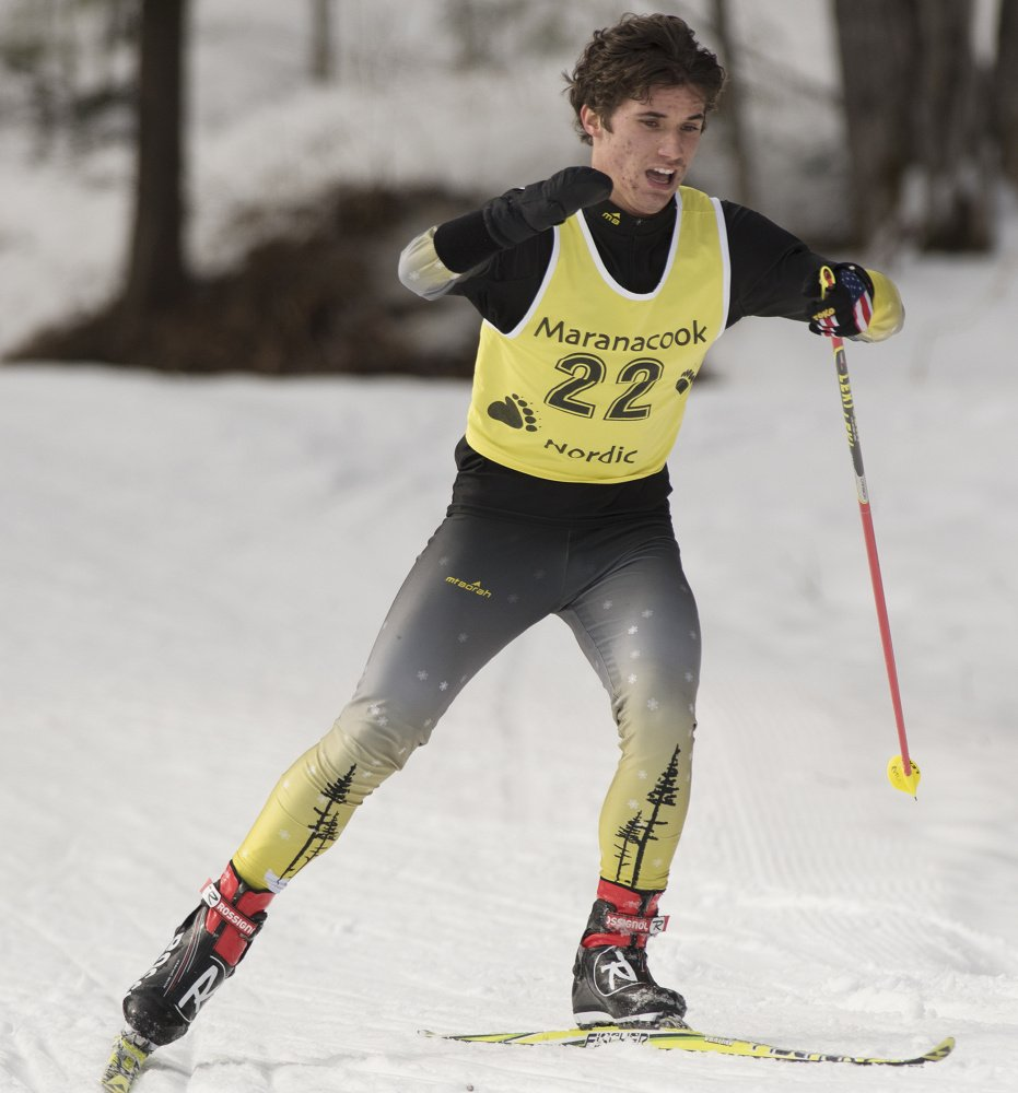 Ruslan Reiter of Maranacook was noticed by Team USA coaches while competing for Maranacook and has become one of the world's top Paralympic Nordic skiers.