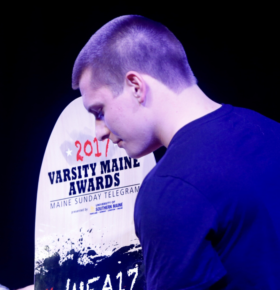 Because Austin Dutremble managed to thrive when challenged throughout his high school career, he won The Role Model award at the Varsity Maine Awards.