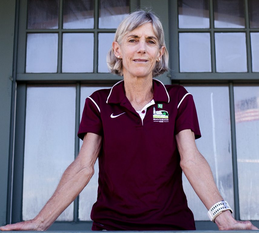 Joan Benoit Samuelson hopes to run the first sub-3-hour marathon for a woman over 60 this fall, but Sunday is