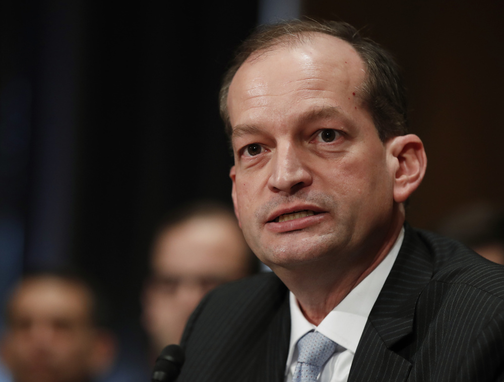 Labor Secretary Alexander Acosta wants to encourage more women to use apprenticeship programs.