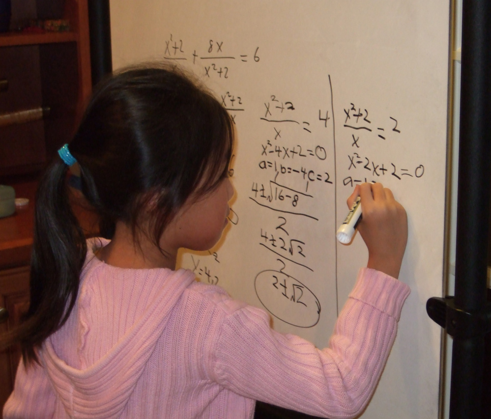 Complex math problems never seemed to faze Stephanie Mui, who was able to do algebra as a first-grader.