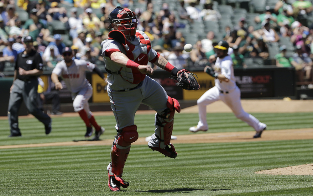 Oakland rolls past Red Sox, 8-3