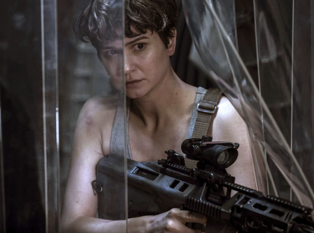 Actress Katherine Waterston appears in a scene from