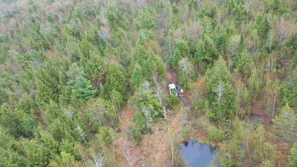 A Maine Forest Ranger helicopter found Frederick Taylor on Sunday.