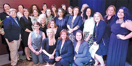 The 2017 Emerge Maine class of 24 women, at their graduation ceremony earlier this year. (Photo by Jeff Kirlin)