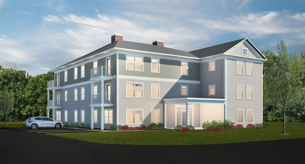 The project rendering for 131 Sunset Ave. by Archetype Architects of Portland