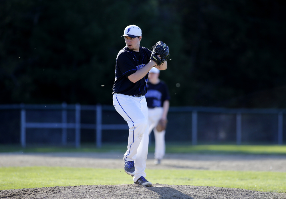 The new pitch count rule in high school baseball had little impact on the number of innings pitcher threw. For example, Falmouth's Cam Guarino threw 50 innings in 2016, before the pitch count rule, and 49   innings in 2017, the first year the rule was in place.