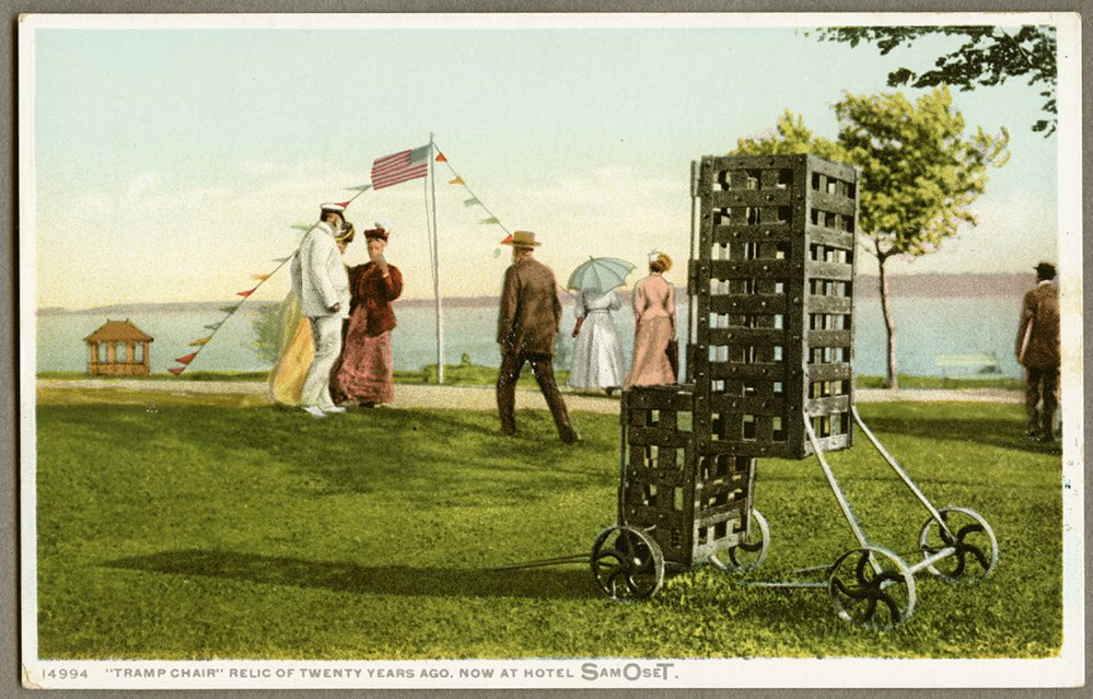 An undated postcard shows the