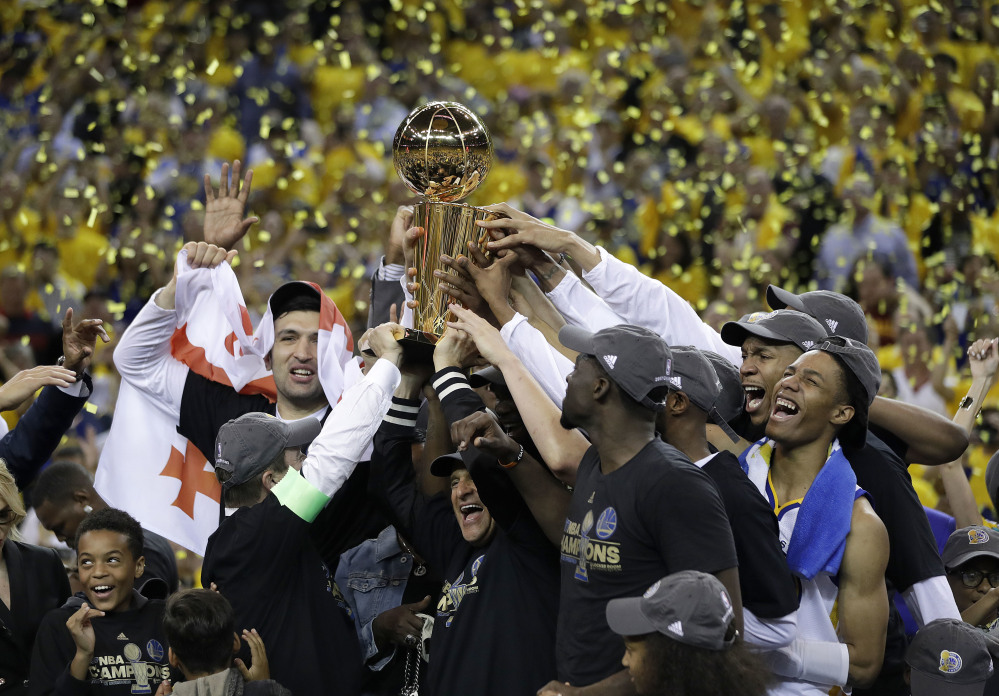 Warriors beat Cavaliers to clinch National Basketball Association  title