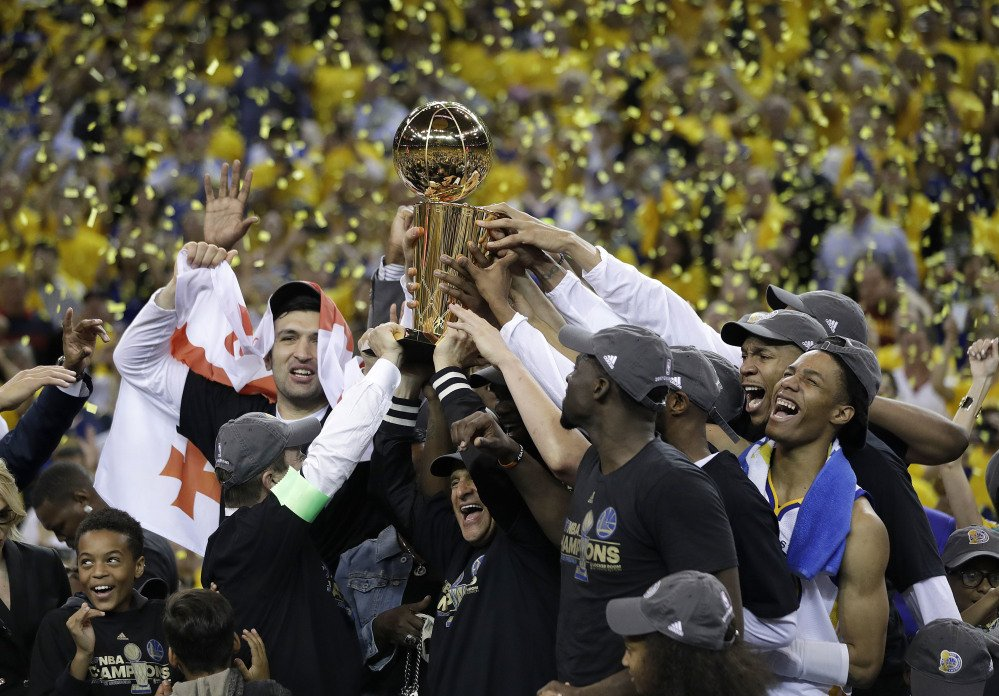 Warriors wins National Basketball Association title after beating Cleveland Cavaliers