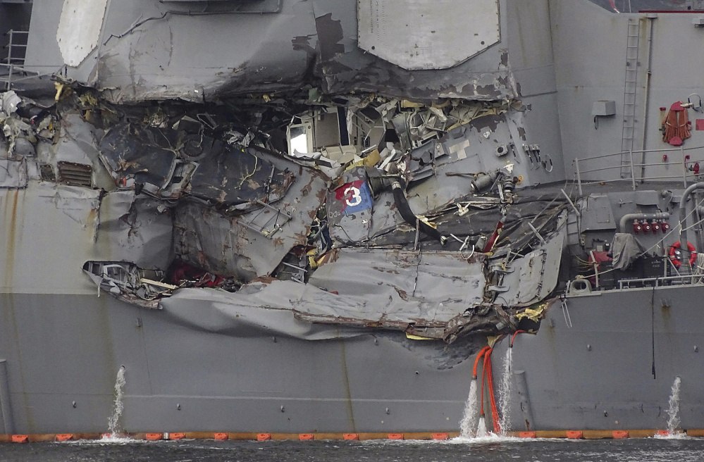 7 dead, heavy damage to US Navy ship in collision