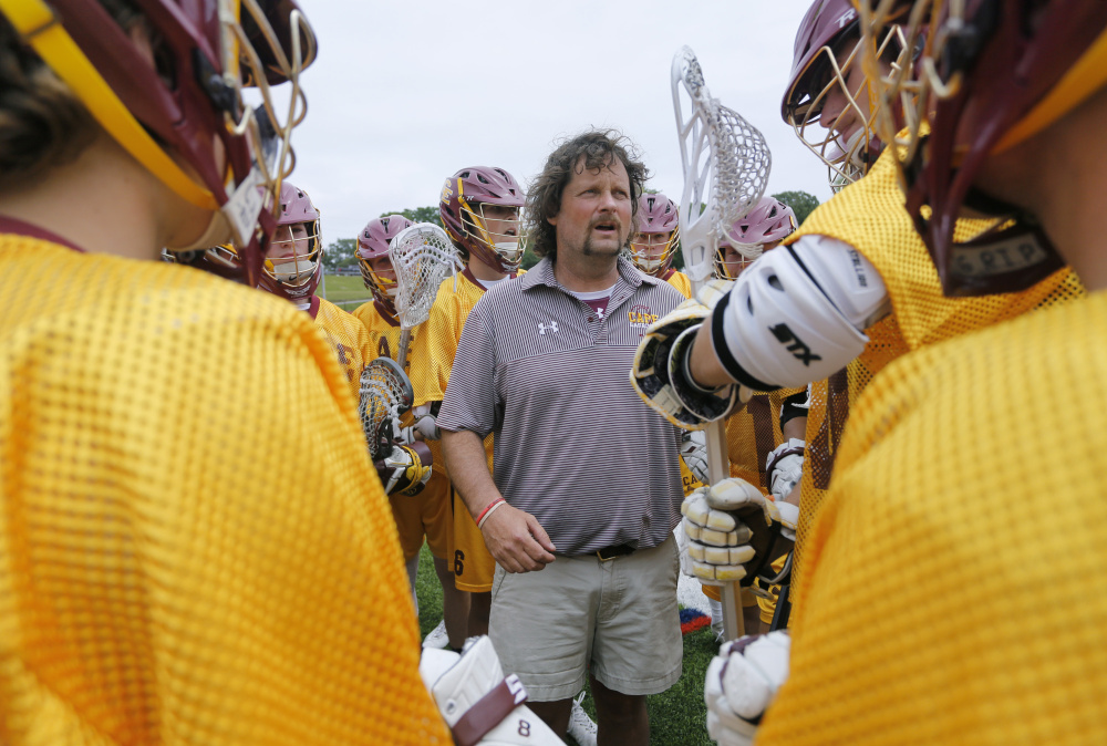 Ben Raymond, whose Cape Elizabeth team won its fourth Class B boys' lacrosse championship in five years with a victory Saturday over Yarmouth, heads a group of coaches who are proposing a three-tier schedule based on a program's strength, rather than by enrollment or league affiliation.