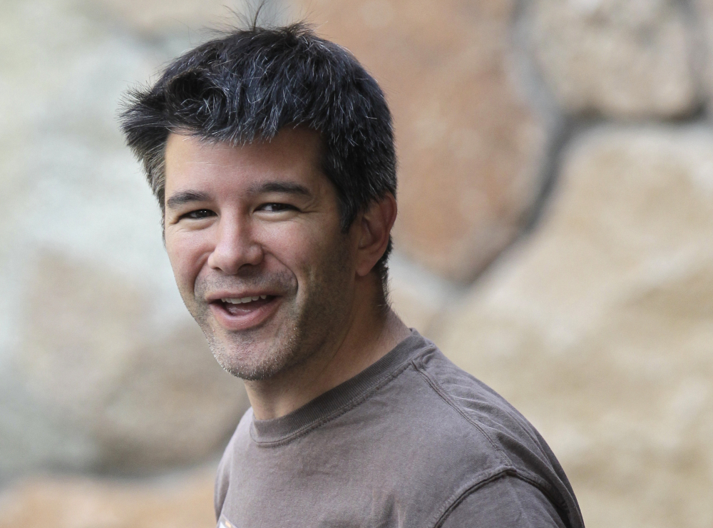 Travis Kalanick, shown in 2012, co-founded Uber, the ride-hailing company that grew from a small startup to a company worth about $69 billion. He stepped down as CEO on Tuesday.