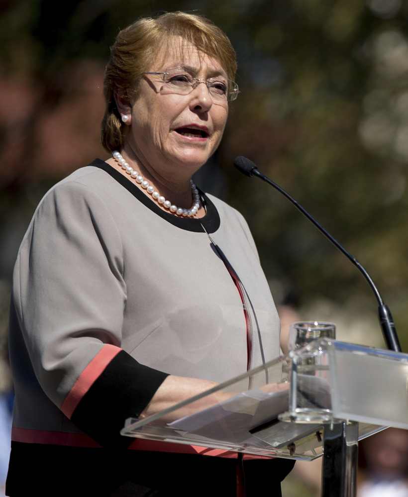 Chile's President Michelle Bachelet announces plans to provide more resources to the Mapuche community.
