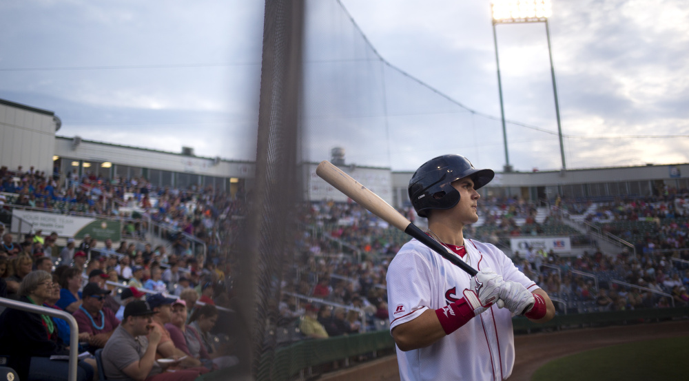 Michael Chavis, a first-round draft pick for Boston in 2014, got off to a shaky start in his pro career but has earned his way to Double-A as a member of the Portland Sea Dogs.