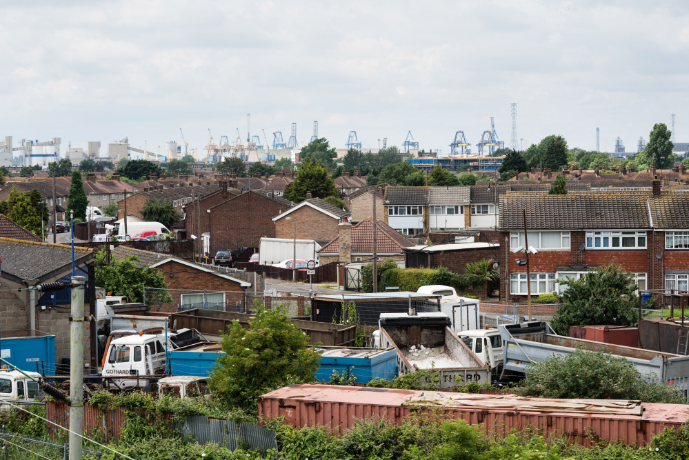 Despite a relatively high density of college graduates and skilled workers in the area, the port town of Tilbury, England – population 12,000 – remains one of England's poorest places.