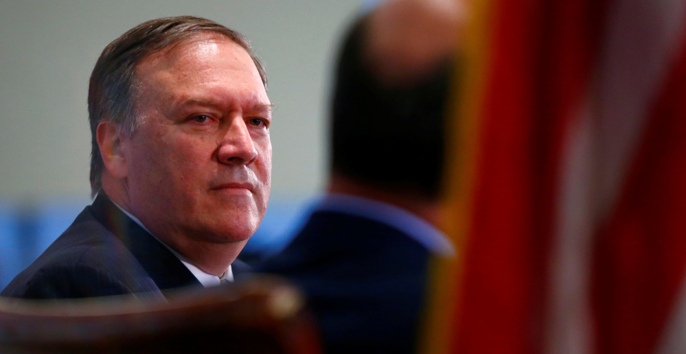 CIA Director Mike Pompeo speaks at the Center for Strategic and International Studies in Washington in April. Reuters/Eric Thayer