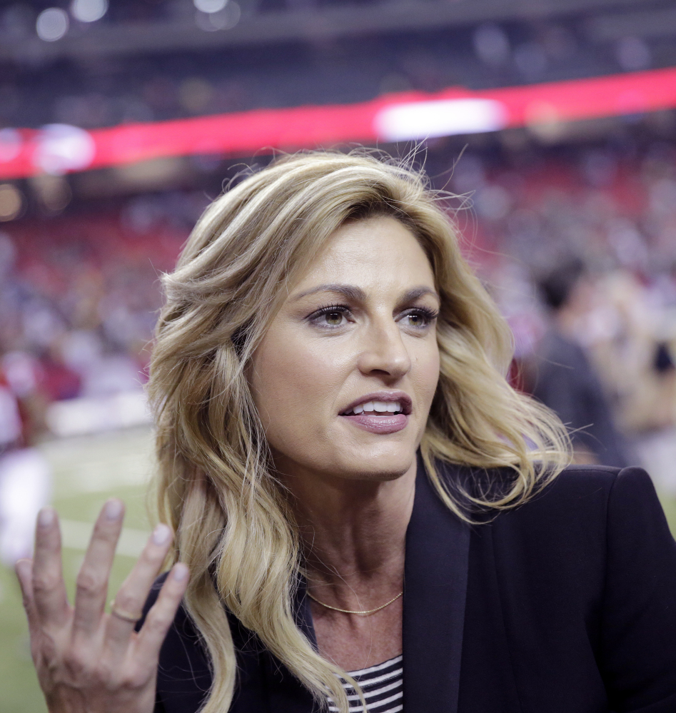 Erin Andrews, a sports broadcaster and