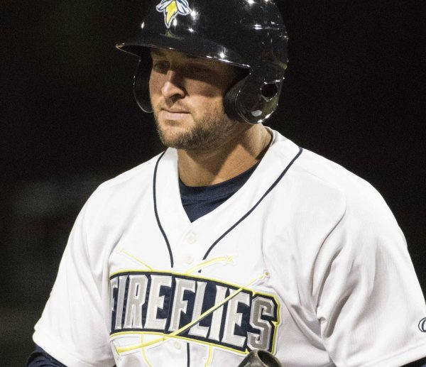 Tim Tebow hit .220 with the Columbia Fireflies of the South Atlantic League, but earned a promotion to advanced Class A.