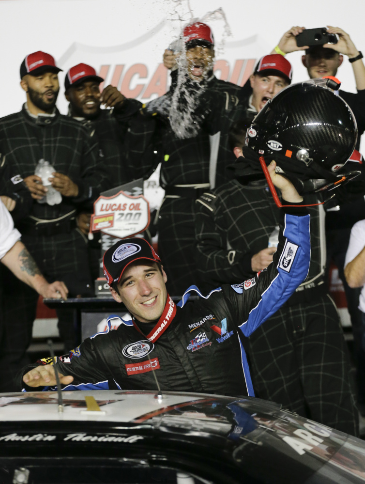 Despite the lower profile of the ARCA series, Austin Theriault has had a chance to show his stuff to NASCAR teams in races at big-name tracks like Daytona, where he was a winner.