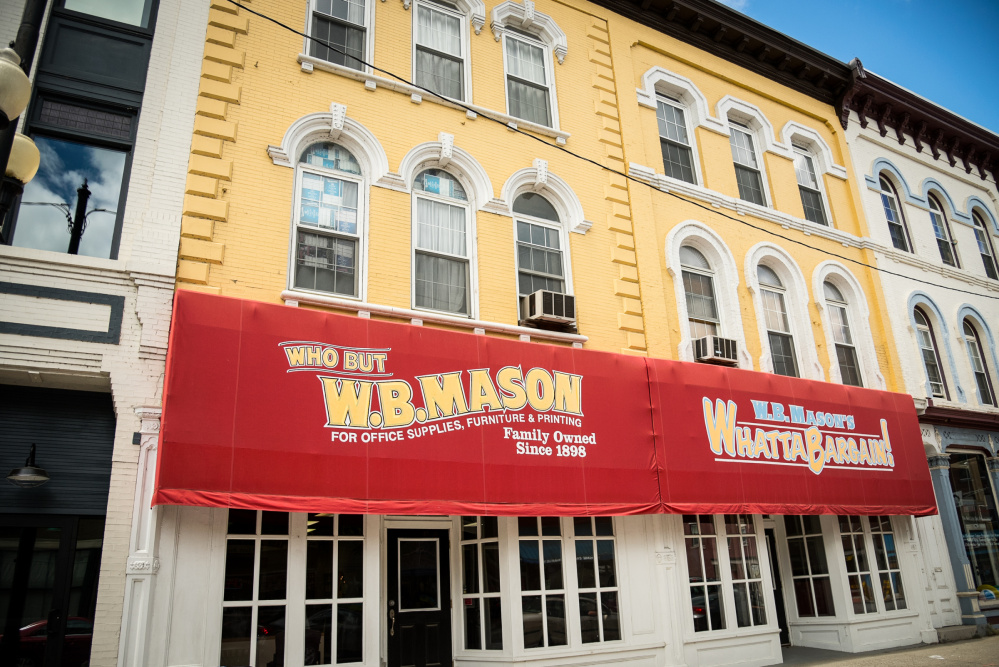 The state buys office supplies from W.B. Mason on Water Street in Augusta, a business that could be hurt if state government shuts down.