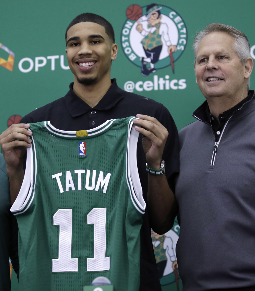 Jayson Tatum, the No. 3 overall pick in this year's draft, will see his first action in a Boston Celtics uniform Monday in a summer league game against the Philadelphia 76ers.