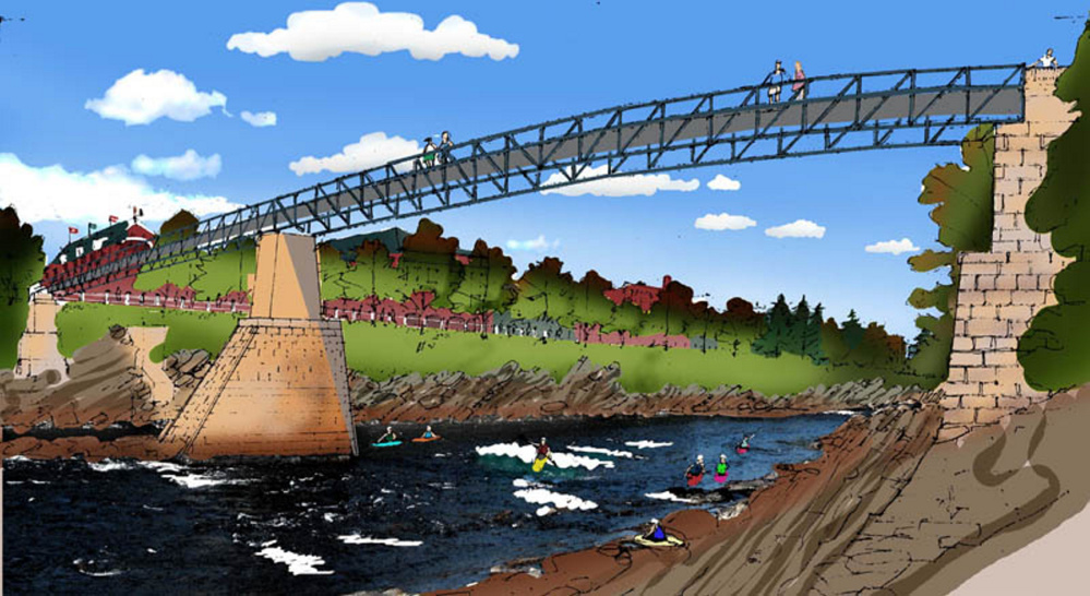 Downtown Skowhegan's Run of River park is progressing gradually, including development of a digital model of the project that officials believe will give the town an economic boost .