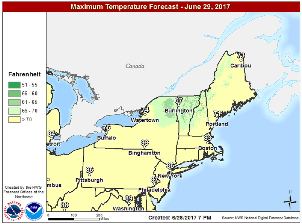 Friday's forecast: Last mild day before a long heat wave