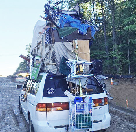 N H Driver Ticketed For Extremely Overloaded Van