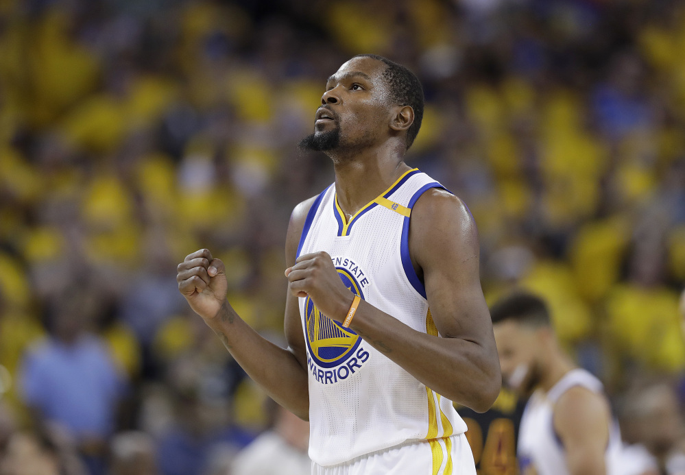 Kevin Durant helped the Golden State Warriors win the NBA title in his first season, then opted out of his contract. He is not going anywhere, however, agreeing to a new two-year deal worth $53 million. He declined a $27.7 million option for 2017-18.
