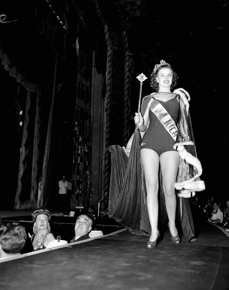 Venus Ramey, 19, of Washington, D.C., is crowned Miss America in 1944 in Atlantic City, N.J. She later made no secret of her disenchantment with the title.
