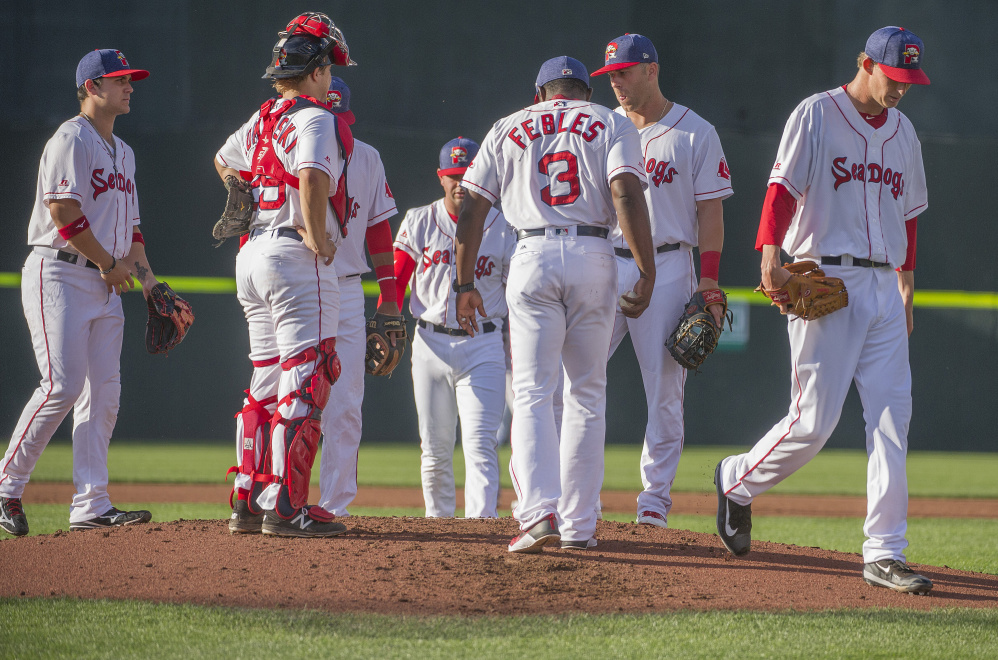 Henry Owens did not last long in Tuesday night's game. He faced eight batters, got two out, walked six and was pulled after 42 pitches and two-thirds of an inning. He's scheduled to pitch again Sunday against Reading.