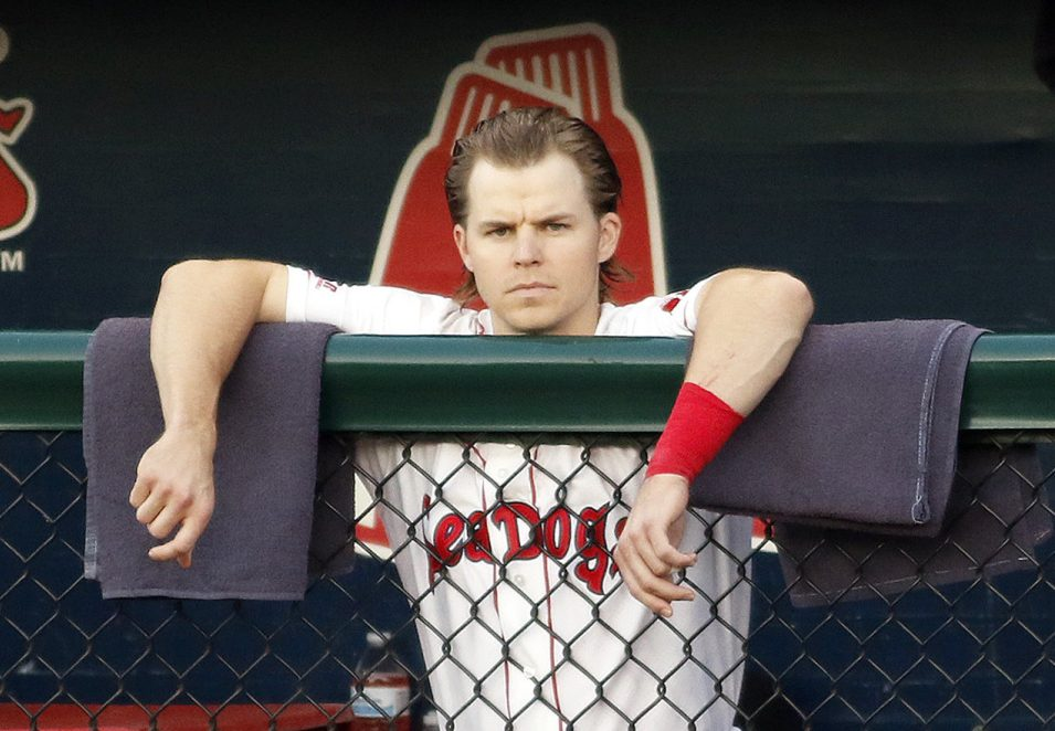 It's not the dugout at Fenway Park, but Hadlock Field will do for Brock Holt as he continues to make strides toward returning to the Red Sox while dealing with vertigo.