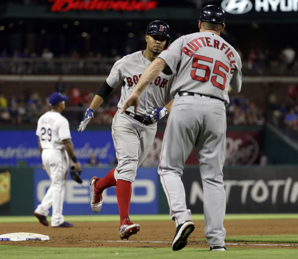 The only Red Sox highlight of the night was Xander Bogaerts' two-run home run in the sixth inning.
