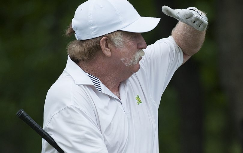 Mark Plummer of Manchester, who has won the Maine Amateur golf tournament 13 times, hopes to continue competing at a high level as more and more young challengers emerge.