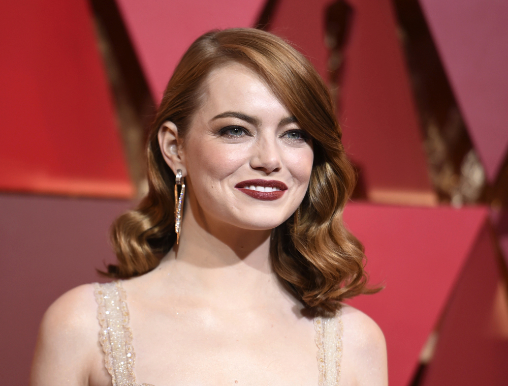 Emma Stone says male co-stars have taken pay cuts to ensure she received equal pay on films. She will portray Billie Jean King in the upcoming