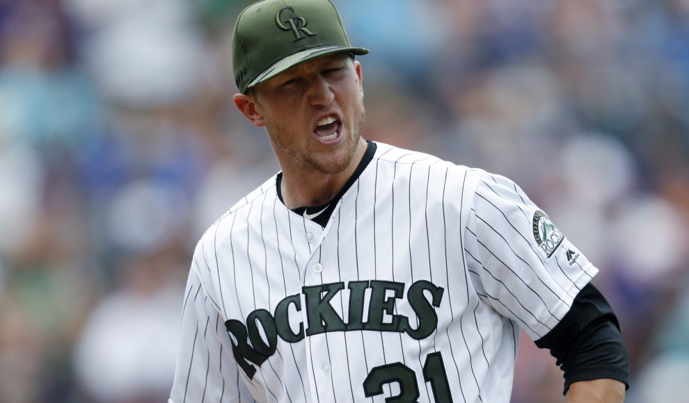 Colorado starting pitcher Kyle Freeland took a no-hitter into the ninth inning before allowing a single to Melky Cabrera with one out Sunday in Denver.